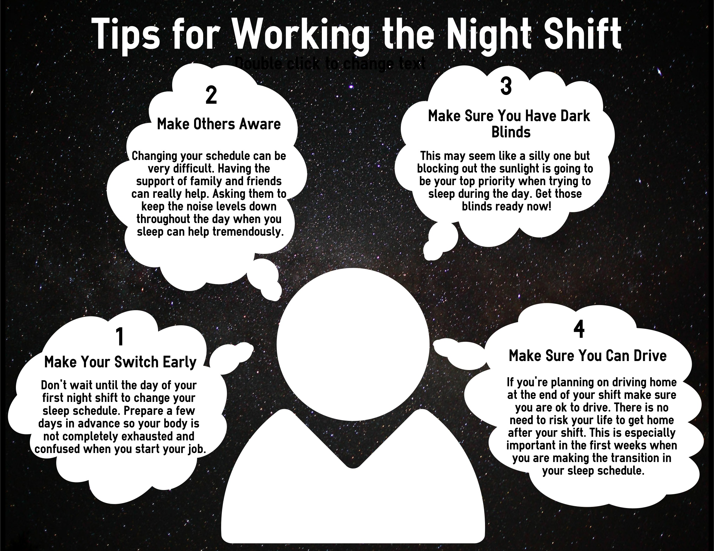 Your sleep and work schedule to accommodate your new shift time
