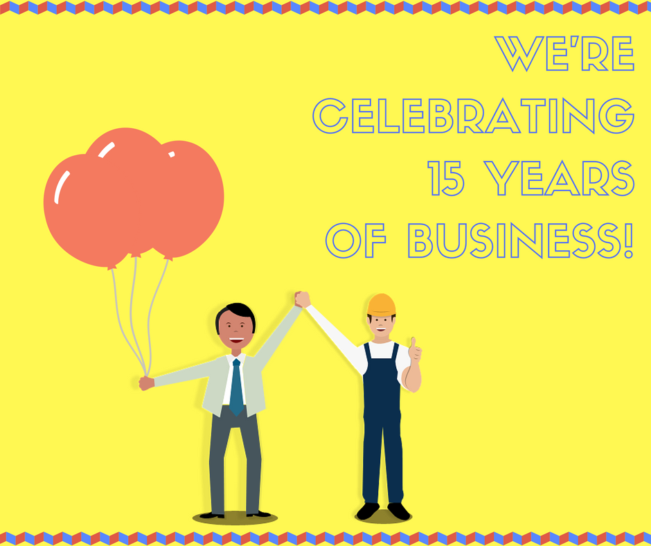 CELEBRATING15YEARS OF BUSINESS!