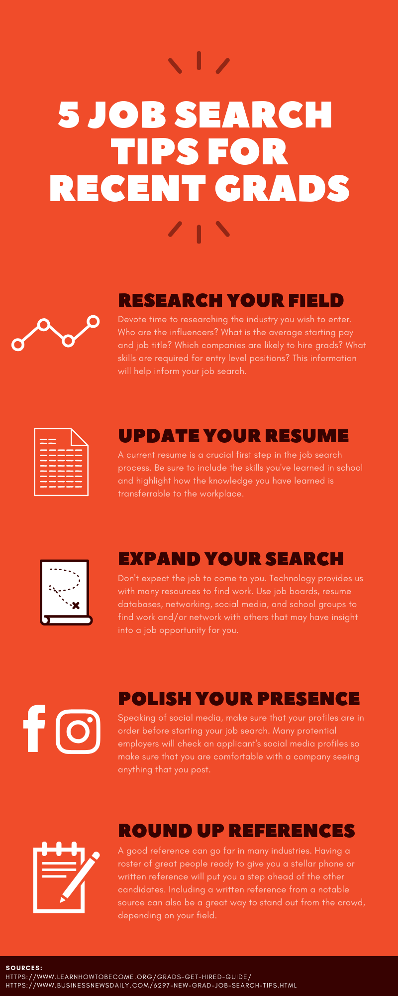 Job search tips for recent grads