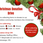 Christmas Donation Drive facebook