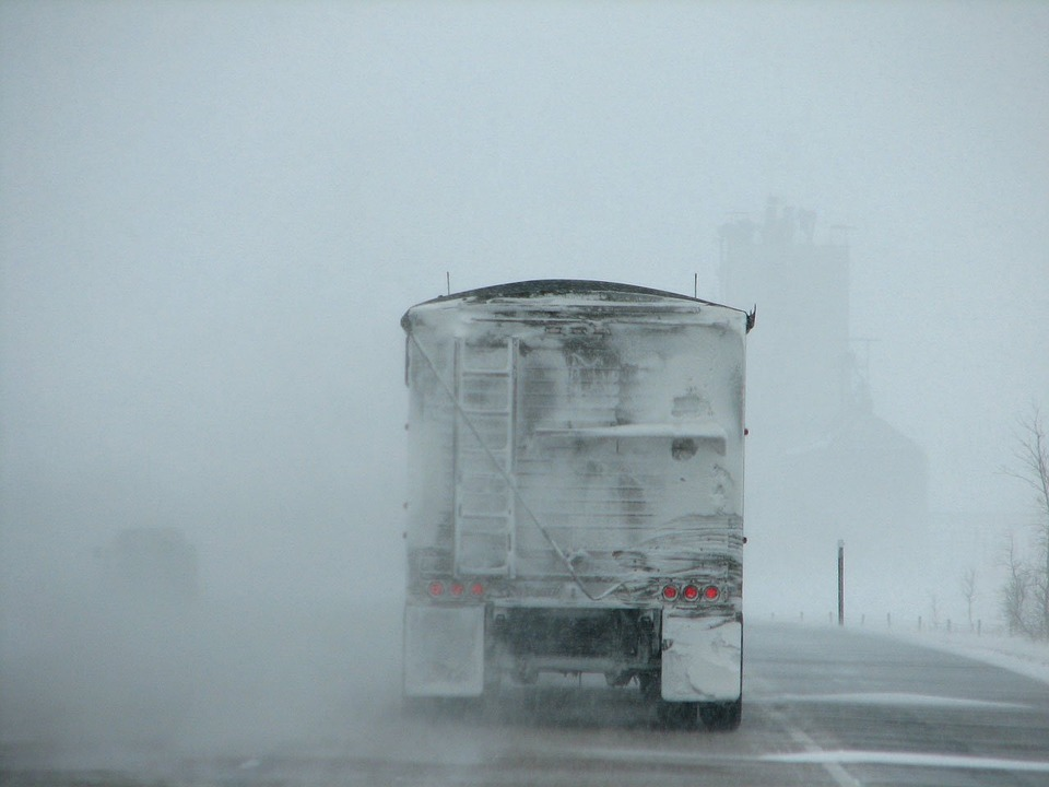 Driving with Transport Trucks in Bad Weather